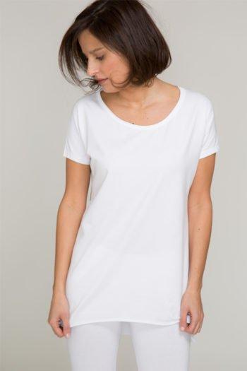dharma t-shirt per yoga bianca
