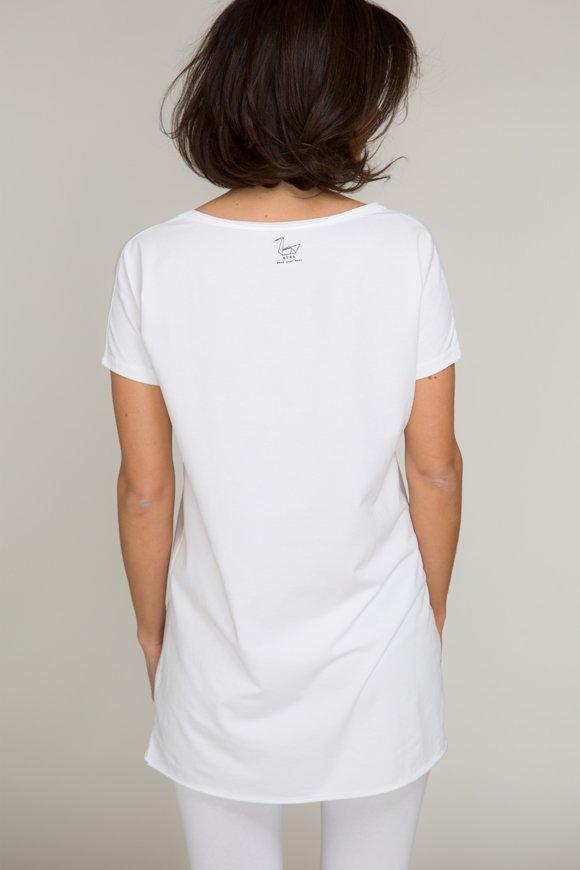 dharma t-shirt per yoga bianco