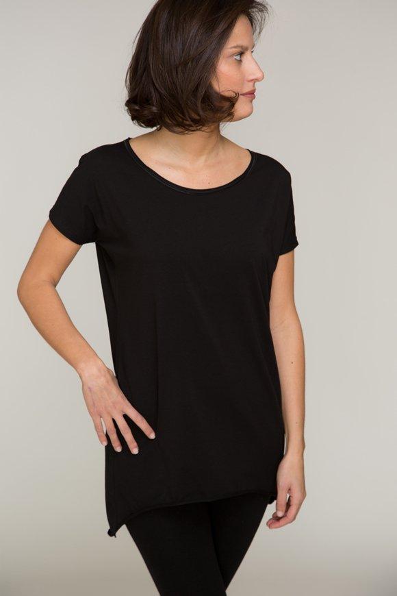 dharma t-shirt per yoga nera