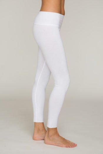 surya legging bianco per yoga