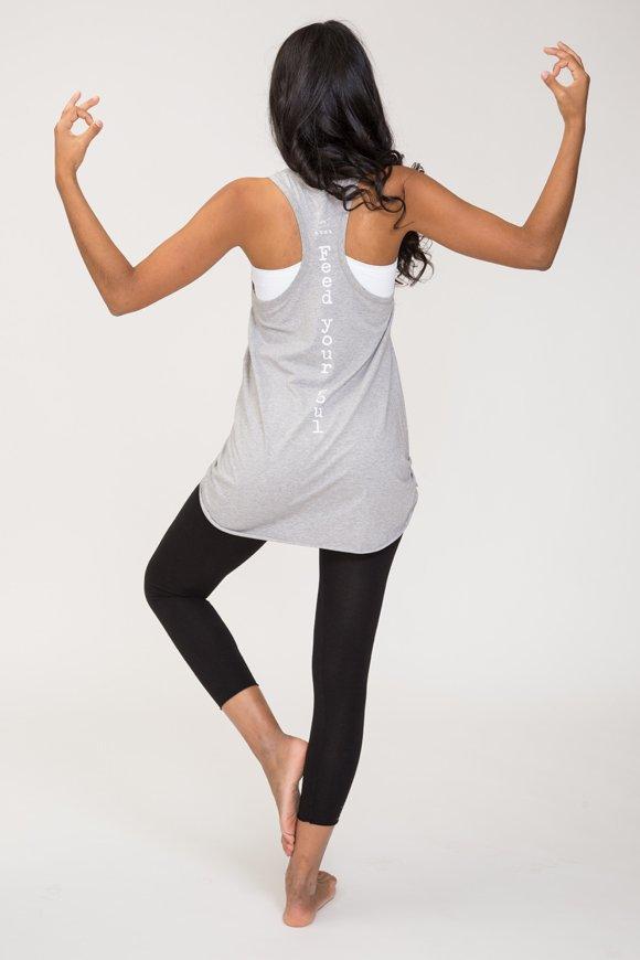 Deva canotta yoga grigio