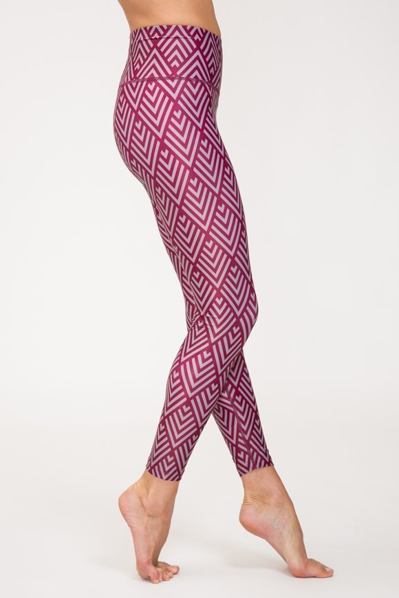 indra leggings yoga clothing for woman made in Italy cyclamen color