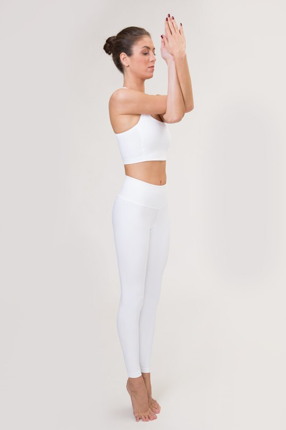 satya leggings yoga clothing woman made in Italy white color