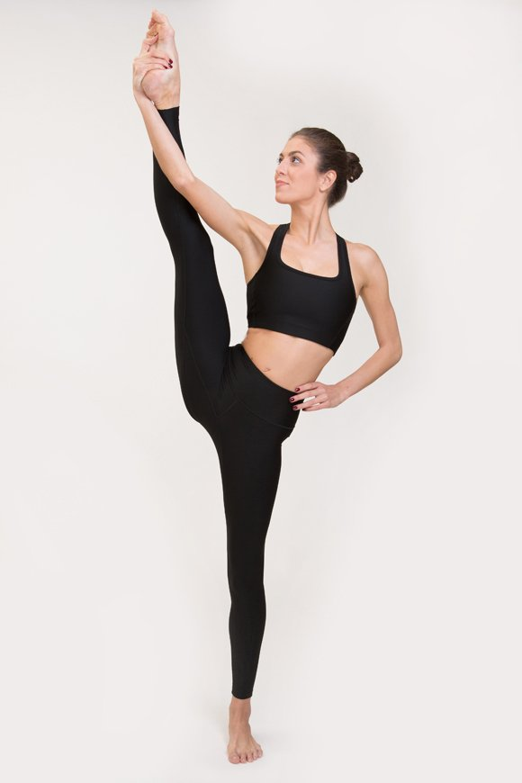 satya leggings yoga clothing woman made in Italy black color