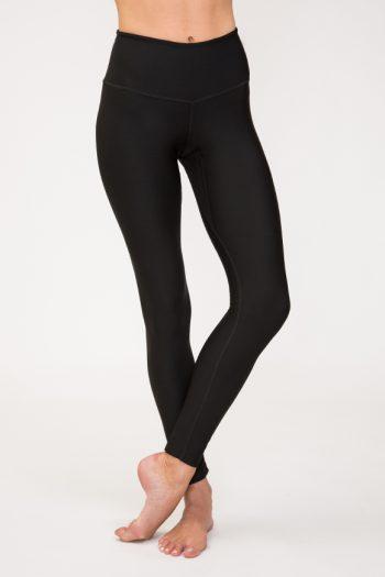 Leggings per praticare yoga in poliammide nero made in italy