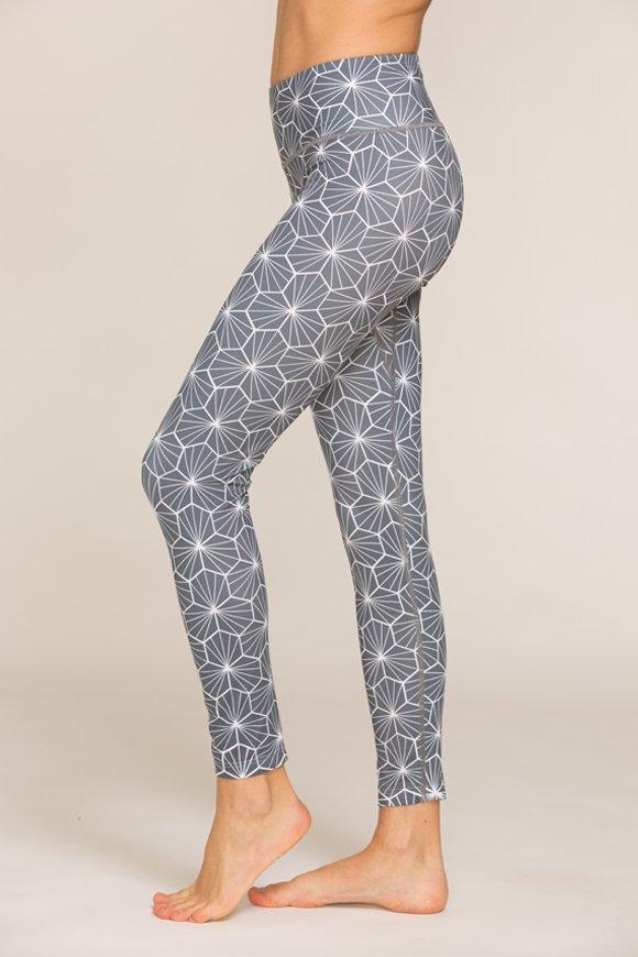 leggings atma abbigliamento yoga donna made in Italy colore antracite bianco