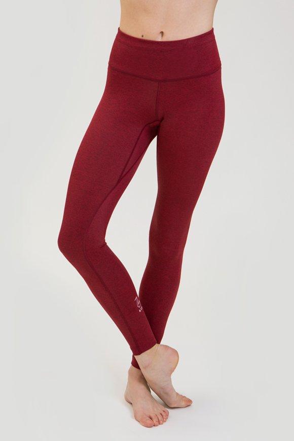 leggings rama abbigliamento yoga made in Italy colore rubino