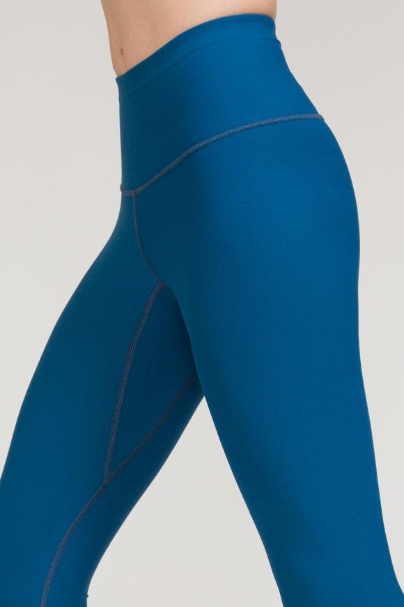 leggings satya abbigliamento yoga donna made in Italy colore blu tropico