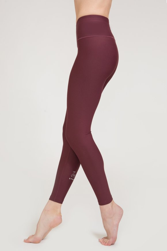 satya leggings yoga clothing woman made in Italy burgundy color