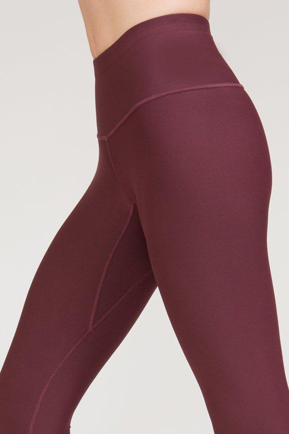 leggings satya abbigliamento yoga donna made in Italy colore burgundy
