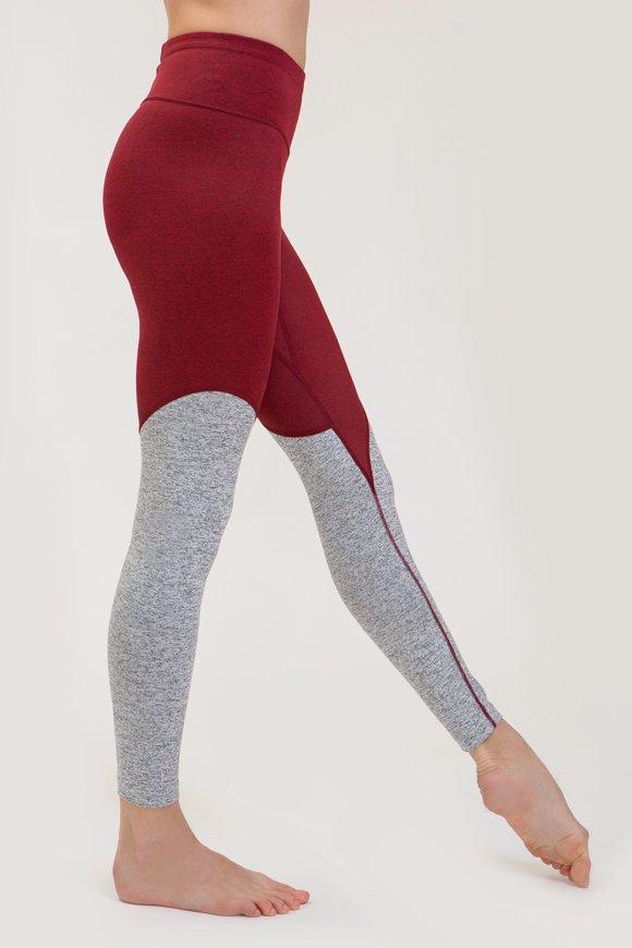 leggings sita abbigliamento yoga made in Italy colore rubino