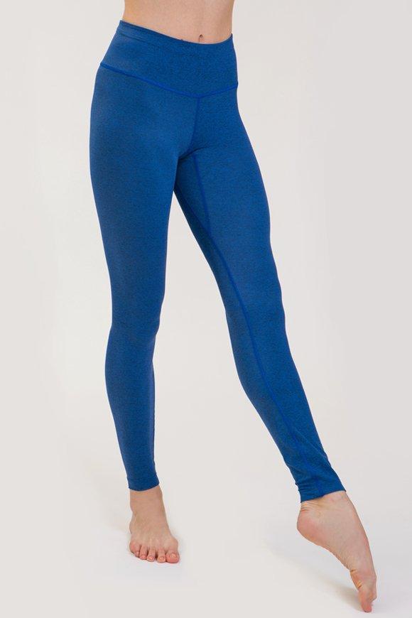 leggings rama abbigliamento yoga made in Italy colore bluette