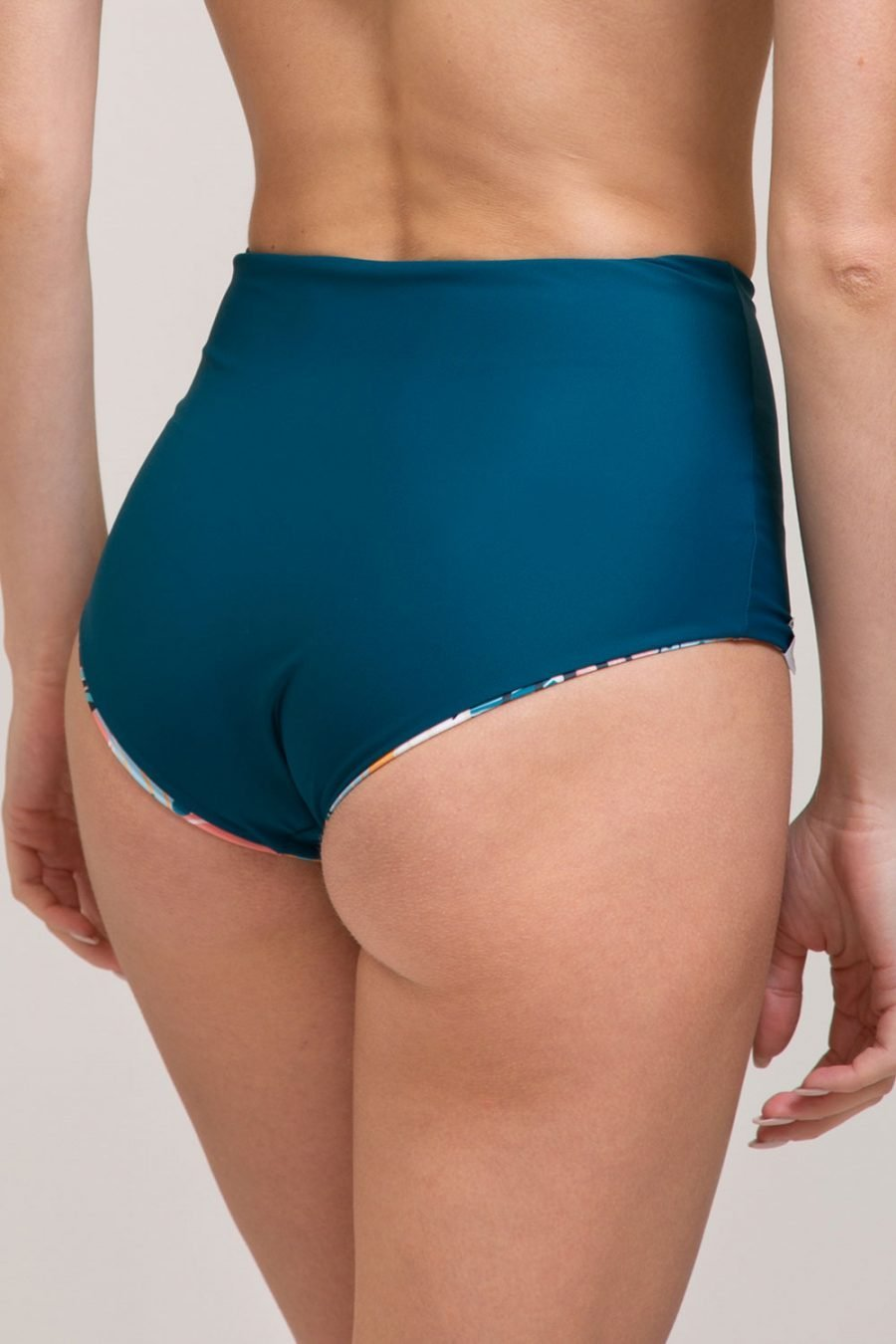 bikini culotte daria double face abbigliamento yoga donna made in Italy colore verde tropical
