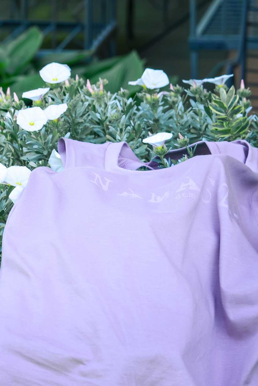 nuova canotta in cotone modal colore malva made in italy