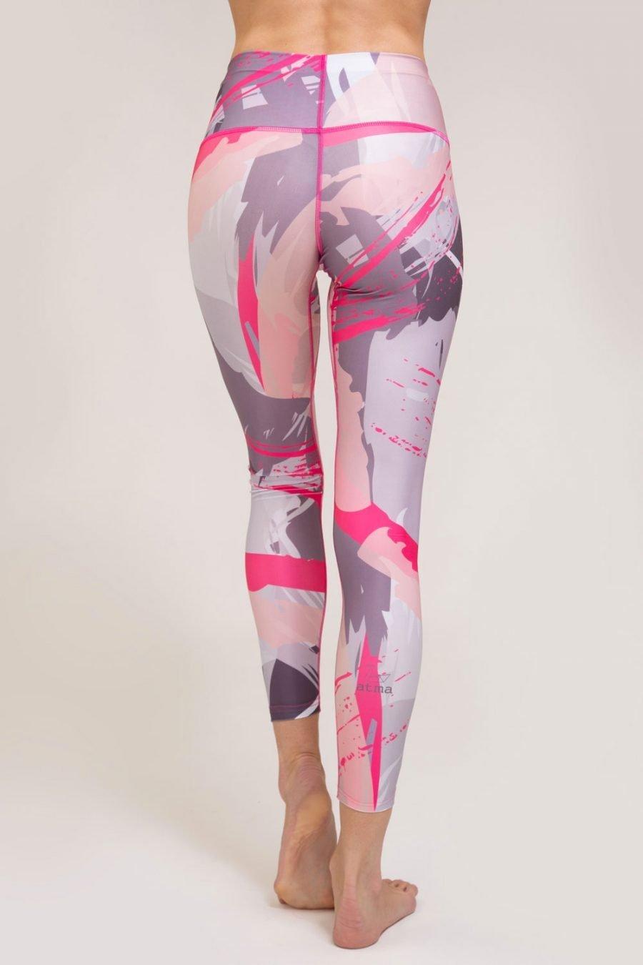 leggings brush abbigliamento yoga donna made in Italy colore malva