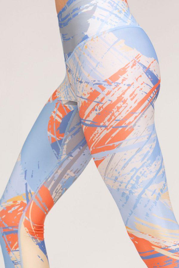 leggings brush abbigliamento yoga donna made in Italy colore sky