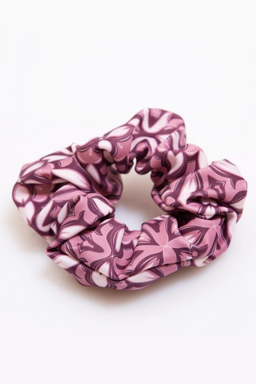scrunchie mosaico abbigliamento yoga donna made in Italy colore rosa