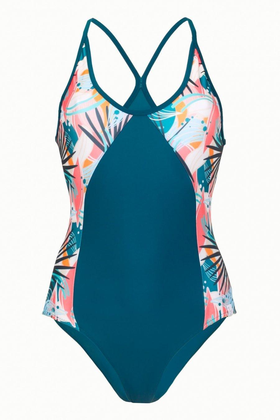 costume amelia abbigliamento yoga donna made in Italy colore tropical