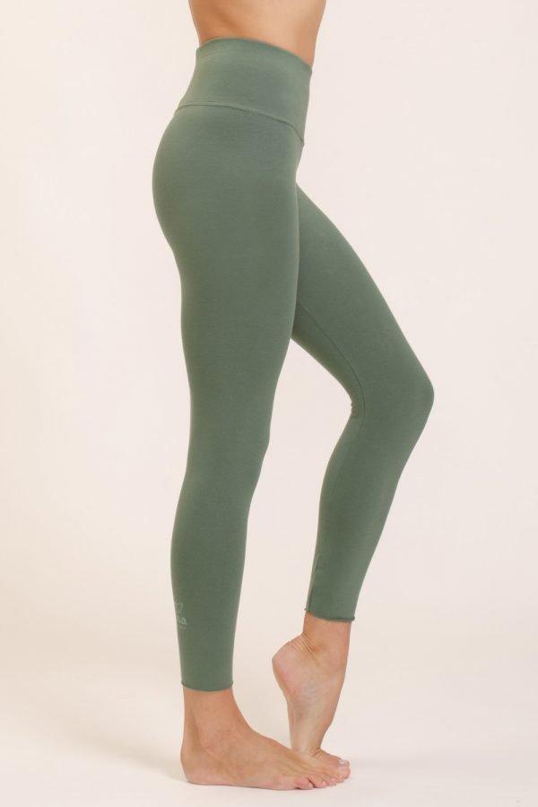 leggings vira abbigliamento yoga donna made in Italy colore aloe