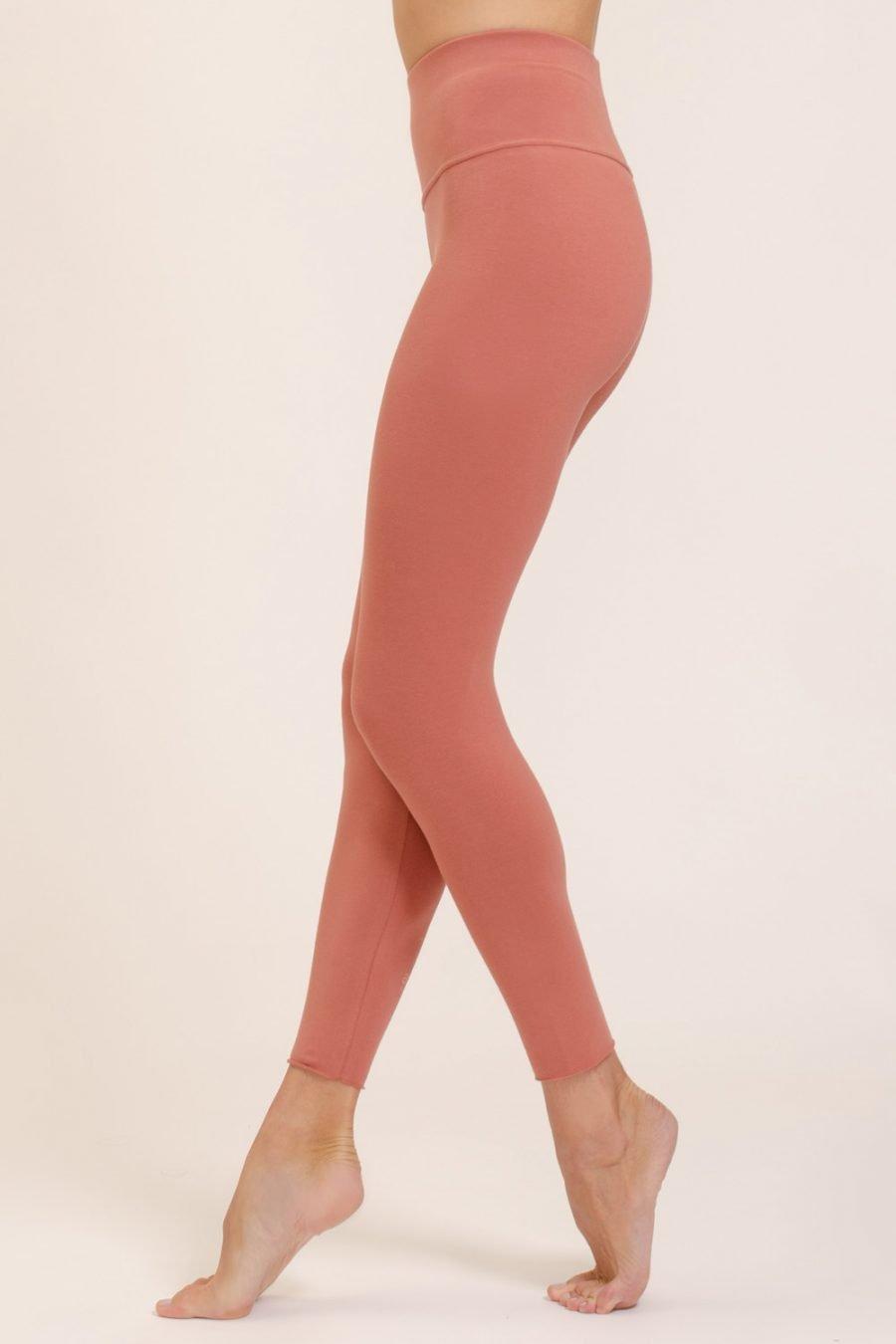 leggings vira abbigliamento yoga donna made in Italy colore blush