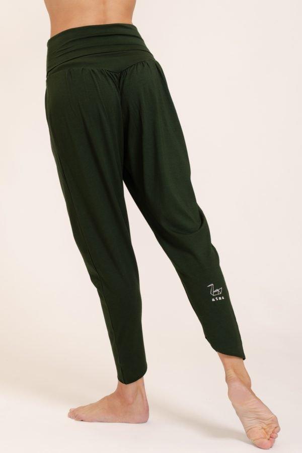 pantalone shakti abbigliamento yoga donna made in Italy colore foresta