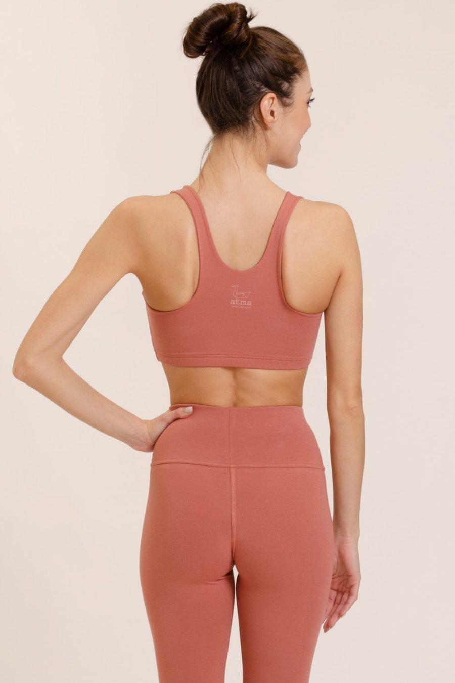 top mudra blush in cotone organico abbigliamento eco-consapevole made in italy atma feed your soul